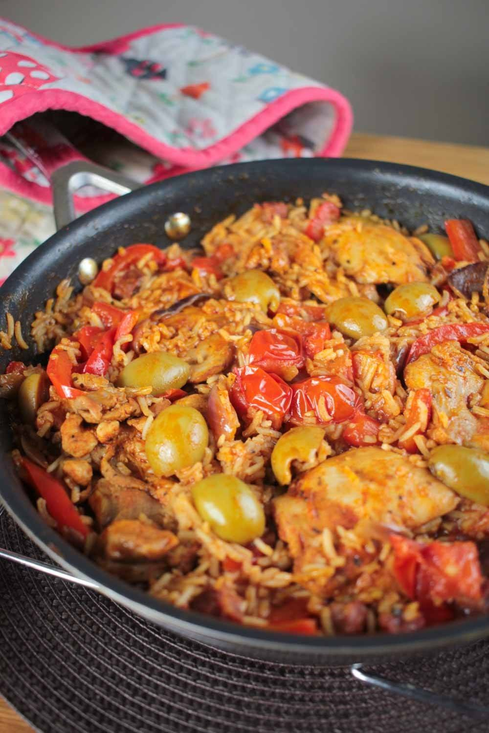 One Pot Spanish Chicken and Rice Recipe | HeyFood — heyfoodapp.com