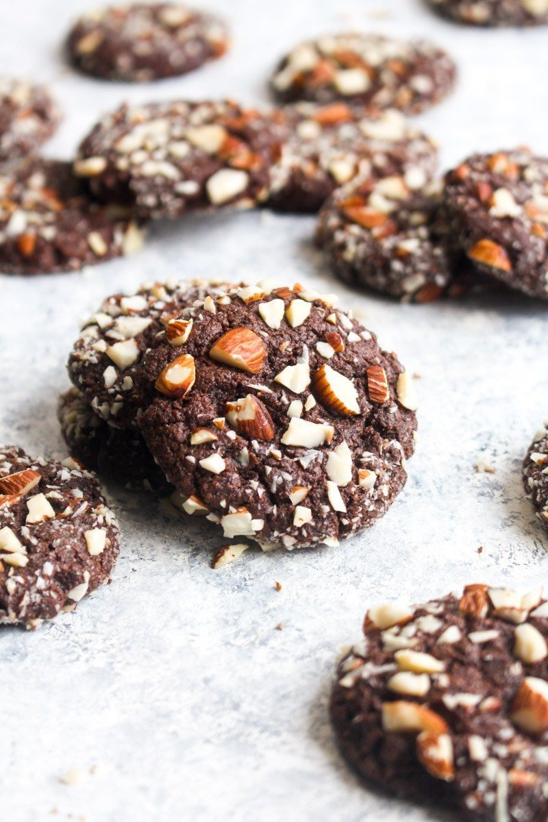 Paleo Chocolate Almond Cookies Recipe | HeyFood — heyfoodapp.com