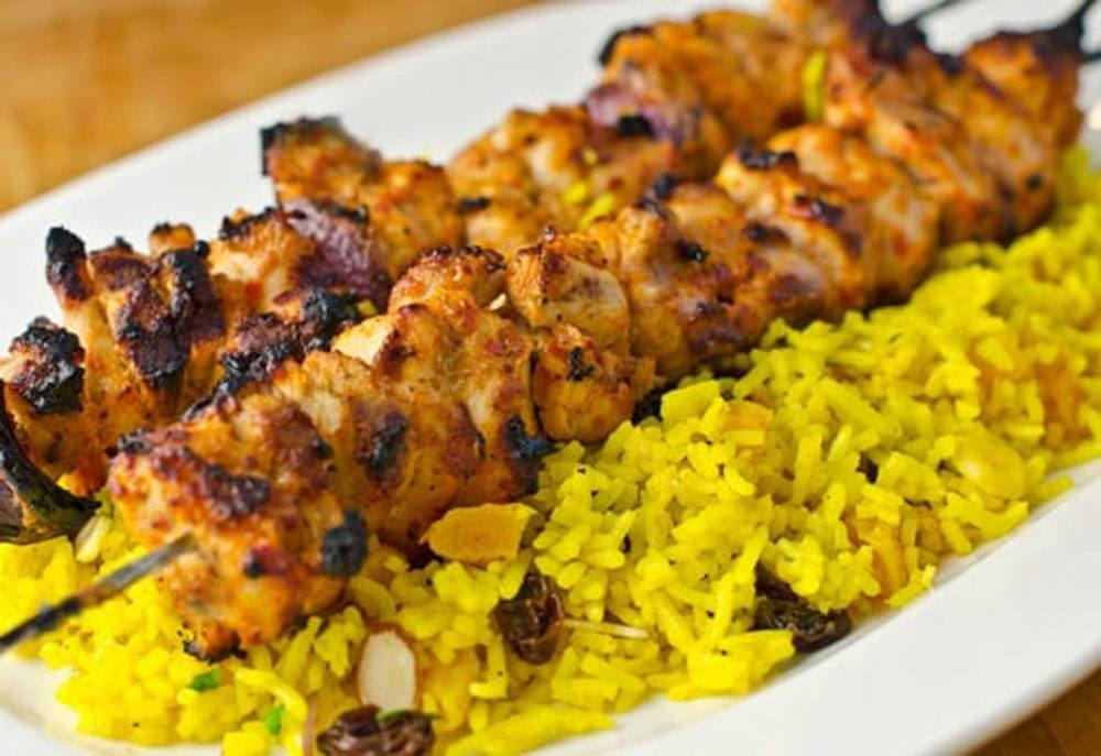 Middle Eastern Chicken Kebabs Recipe | HeyFood — heyfoodapp.com