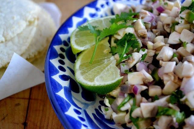 Mushroom, Jalapeno & Cilantro Salsa Recipe | HeyFood — heyfoodapp.com