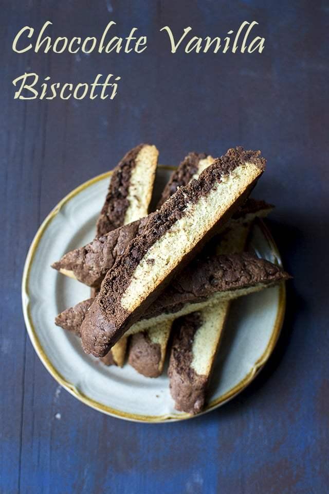Chocolate Vanilla Biscotti Recipe   HeyFood — heyfoodapp.com