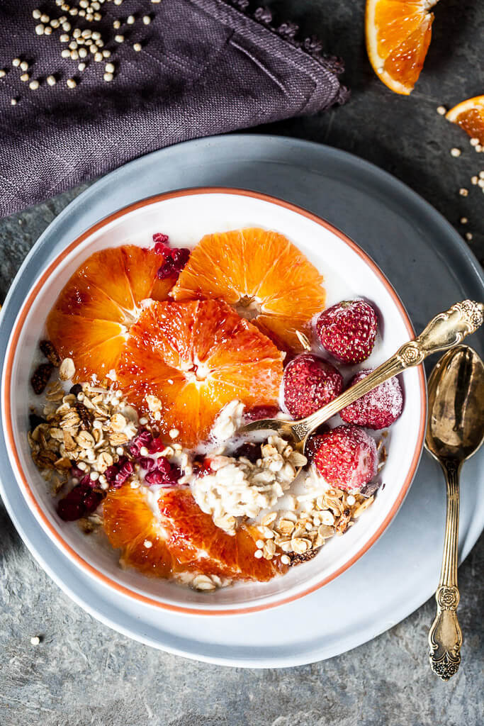 Vegan Blood Orange Overnight Oats Recipe | HeyFood — heyfoodapp.com