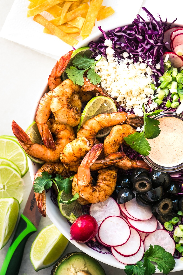 Shrimp Taco Salad Recipe | HeyFood — heyfoodapp.com