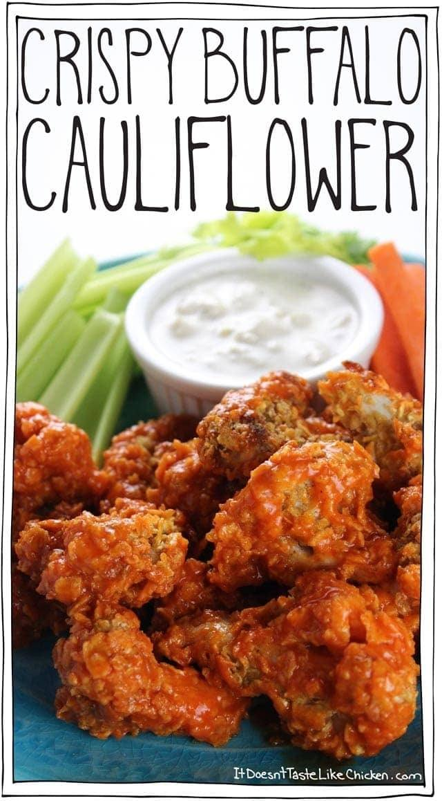Crispy Buffalo Cauliflower Recipe | HeyFood — heyfoodapp.com