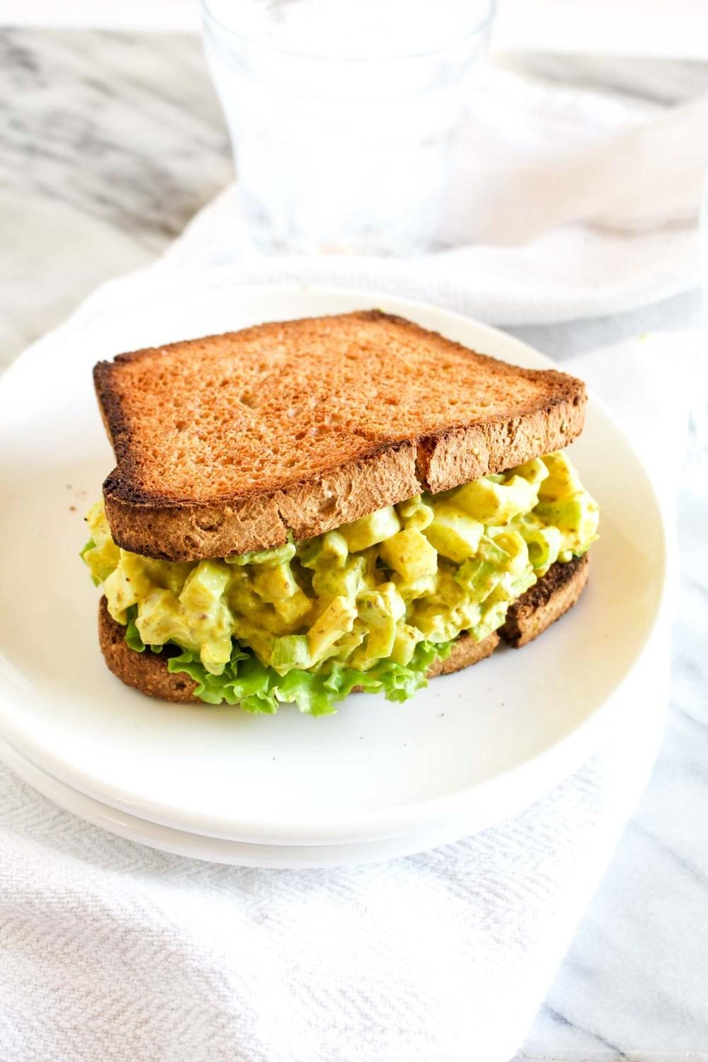 Vegan Egg Salad Sandwich Recipe | HeyFood — heyfoodapp.com
