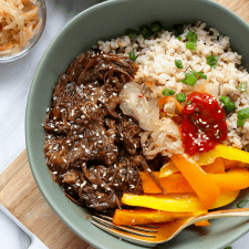 Shredded Korean Beef Bowls Recipe | HeyFood — heyfoodapp.com