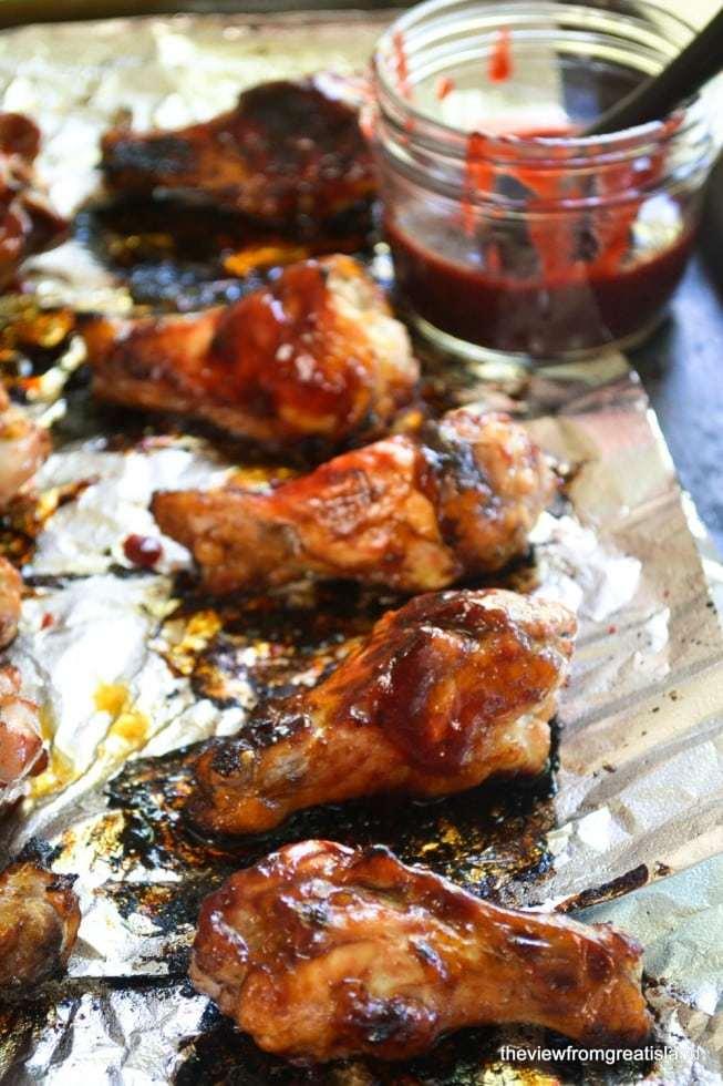 Fresh Plum Glazed Barbecue Drumettes Recipe   HeyFood — heyfoodapp.com