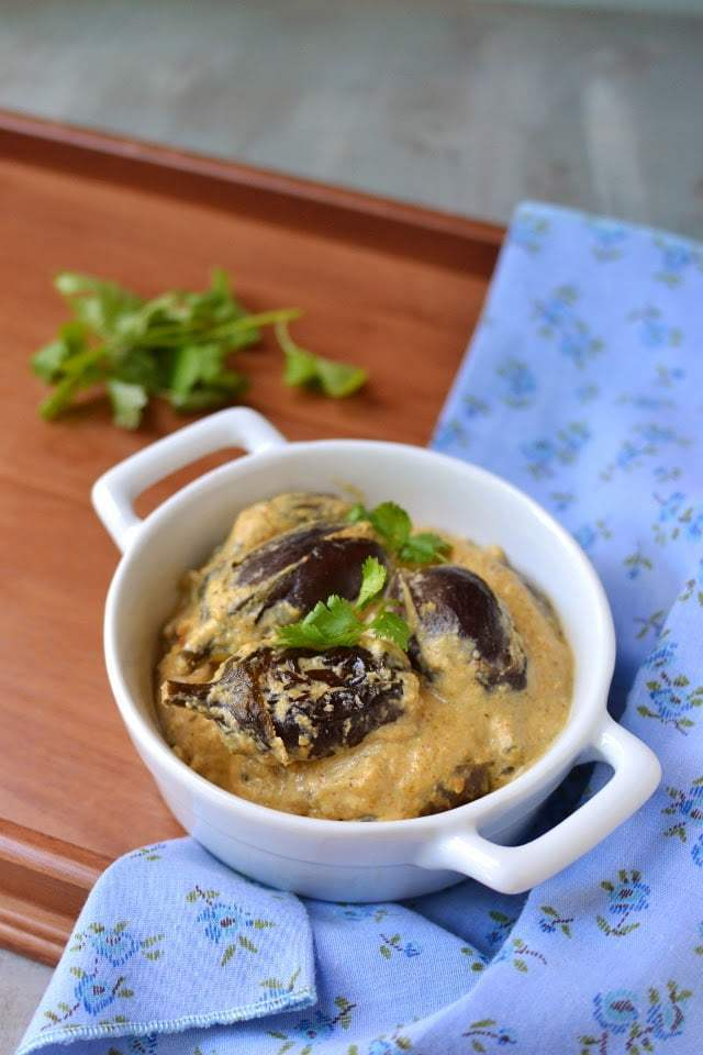 Vankaya Kurma (Eggplant Kurma) Recipe | HeyFood — heyfoodapp.com