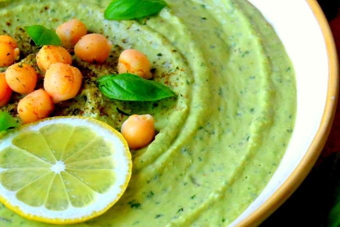 Fresh Basil Hummus Recipe | HeyFood — heyfoodapp.com