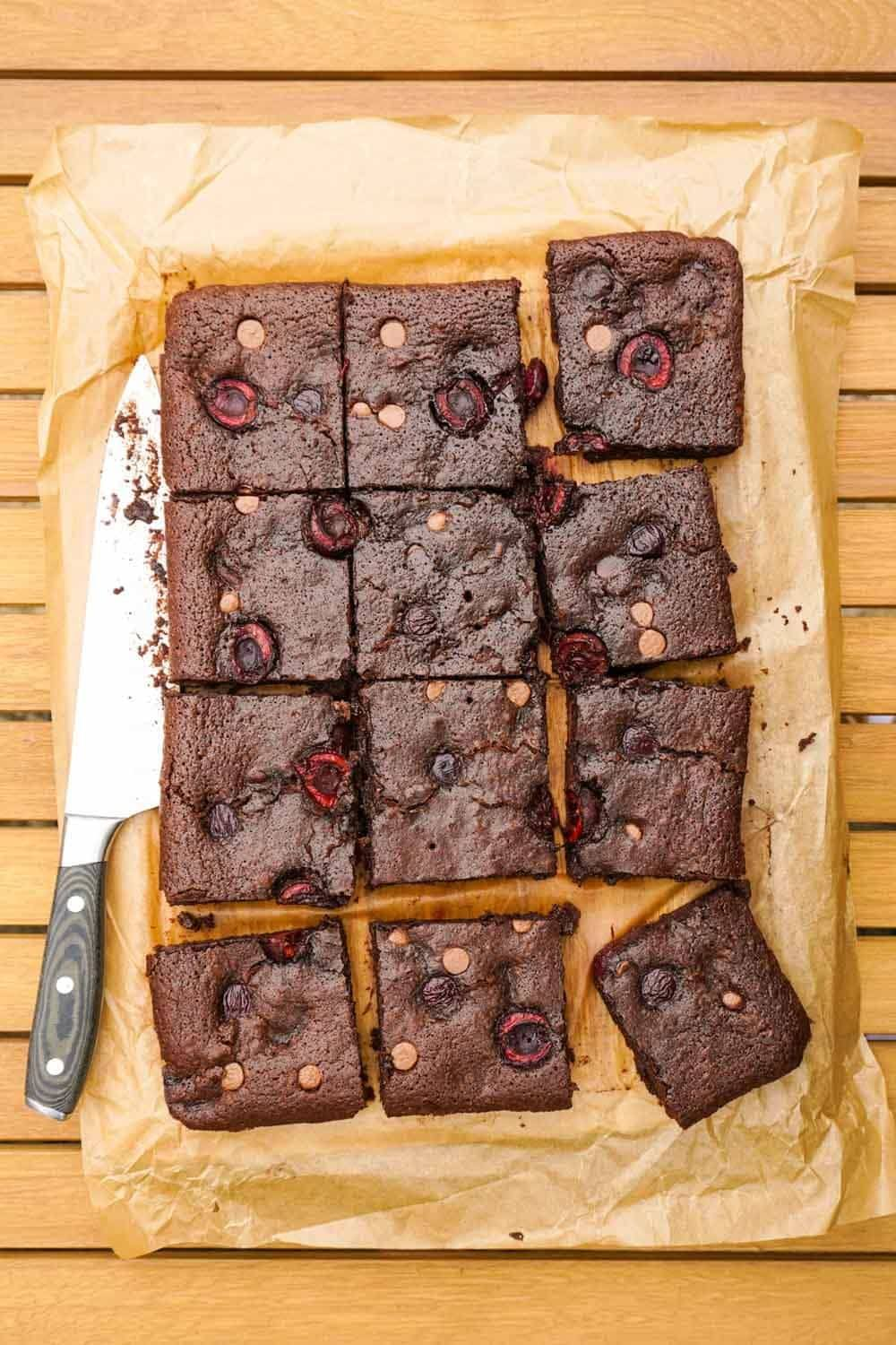 Cherry Brownies Recipe | HeyFood — heyfoodapp.com