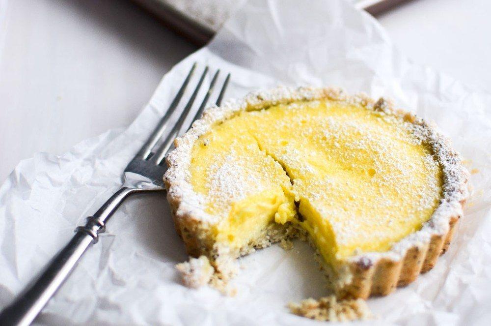 Lemon Tart with Poppy Seed Shortbread Crust Recipe | HeyFood — heyfoodapp.com