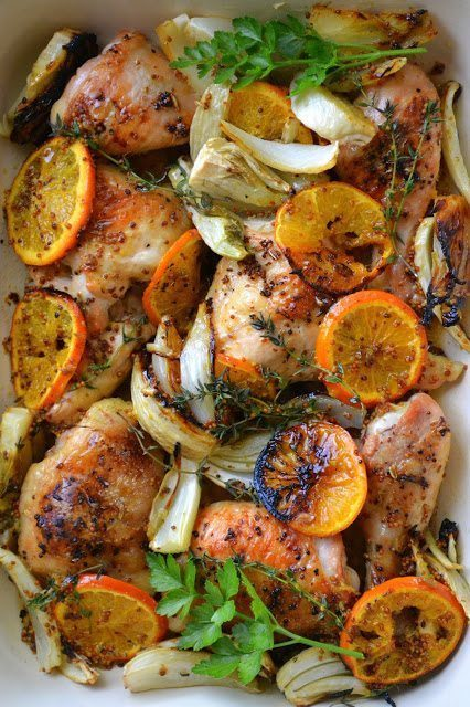 Roasted Chicken with Clementines Recipe | HeyFood — heyfoodapp.com