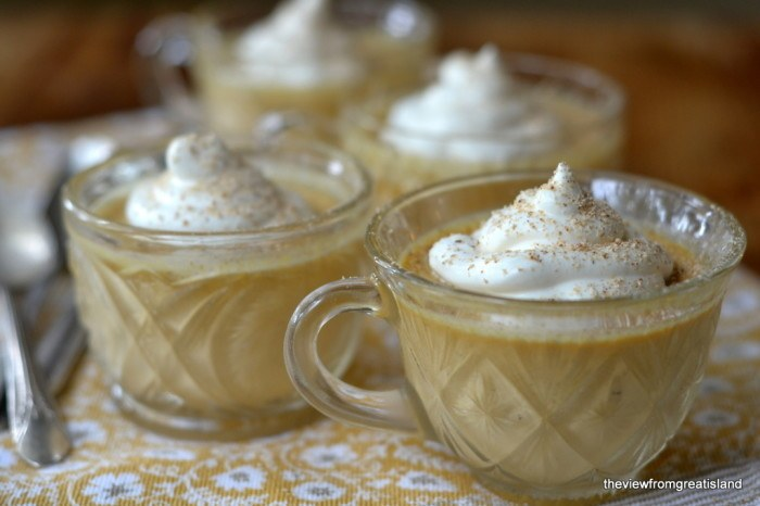 Pumpkin Pot de Crème with Maple Whipped Cream Recipe | HeyFood — heyfoodapp.com