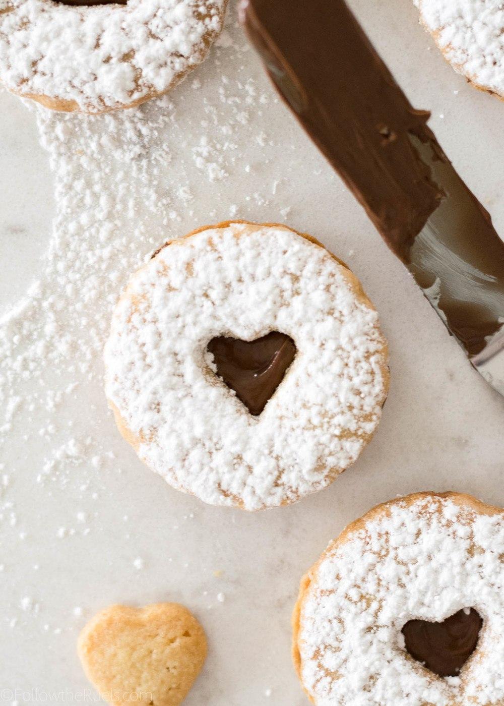 Nutella Linzer Cookies Recipe   HeyFood — heyfoodapp.com