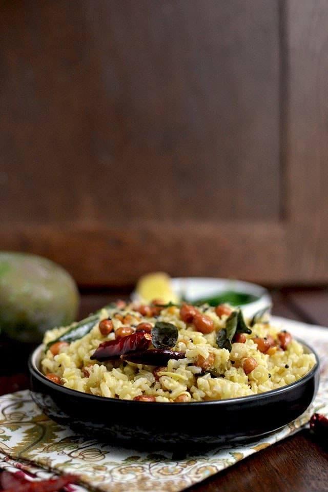 Mango Pulihora with Brown Rice Recipe   HeyFood — heyfoodapp.com