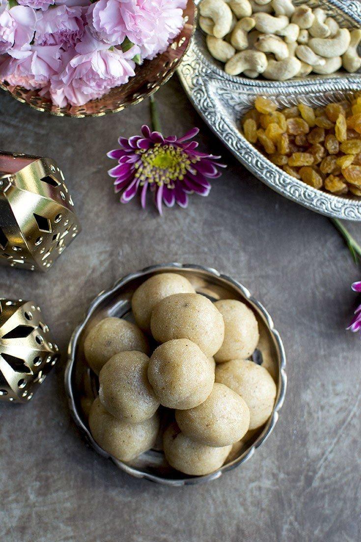 Sooji Laddoo (Semolina Laddu Recipe) Recipe | HeyFood — heyfoodapp.com