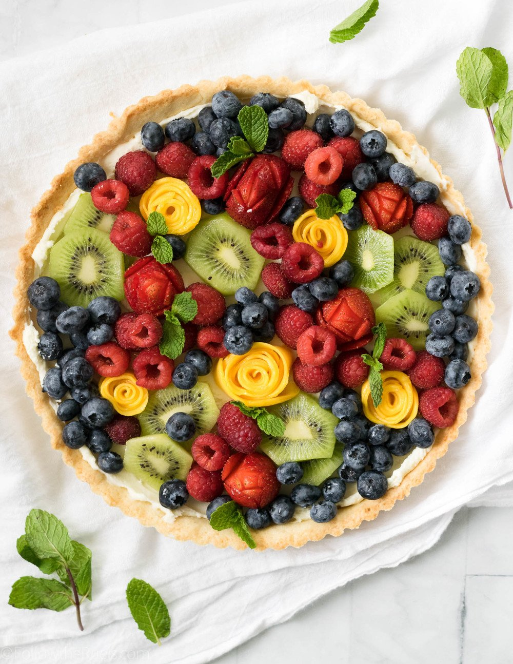 Fruit Tart with Almond Crust Recipe | HeyFood — heyfoodapp.com