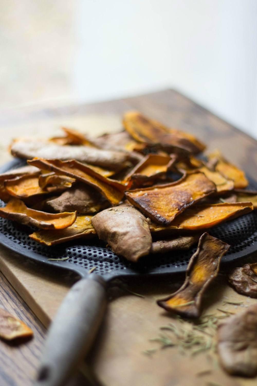 Sweet Potato Skin Chips Recipe | HeyFood — heyfoodapp.com