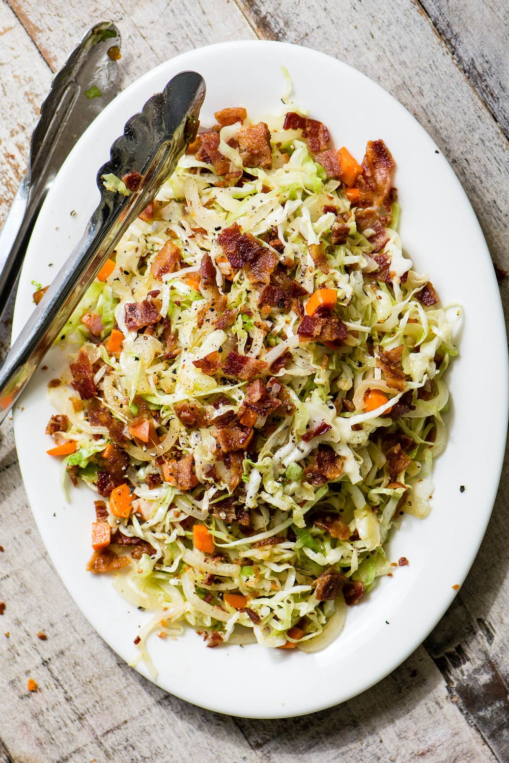 Fried Cabbage and Bacon Slaw Recipe | HeyFood — heyfoodapp.com
