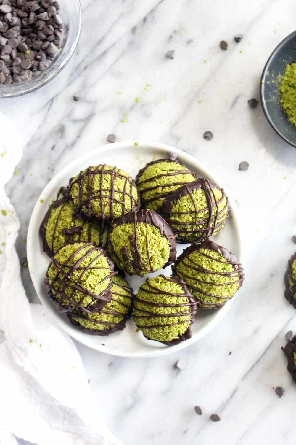 Matcha Green Tea Macaroons Recipe | HeyFood — heyfoodapp.com
