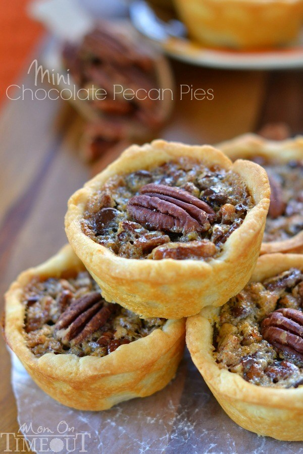 Mini Chocolate Pecan Pies Recipe | HeyFood — heyfoodapp.com