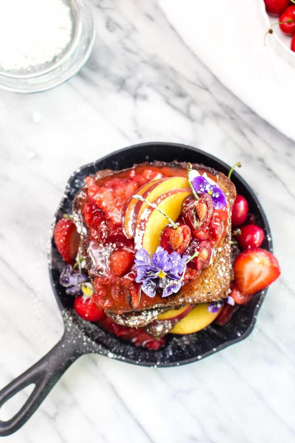 Vegan French Toast with Fresh Strawberry Sauce Recipe | HeyFood — heyfoodapp.com