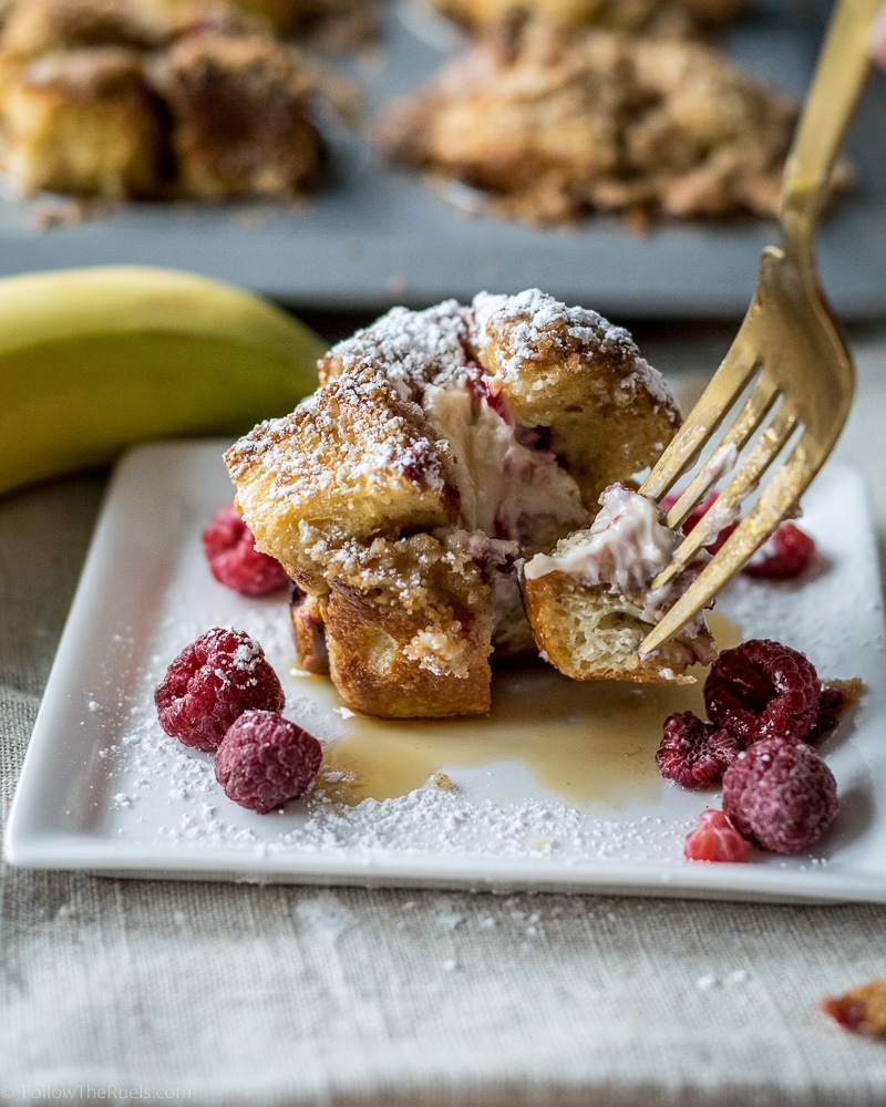 Stuffed French Toast Muffins with Raspberries Recipe | HeyFood — heyfoodapp.com