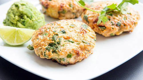 Paleo Chicken Taco Burger Recipe | HeyFood — heyfoodapp.com