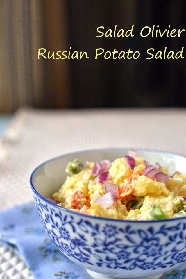 Salad Olivier -- Russian Potato Salad Recipe | HeyFood — heyfoodapp.com