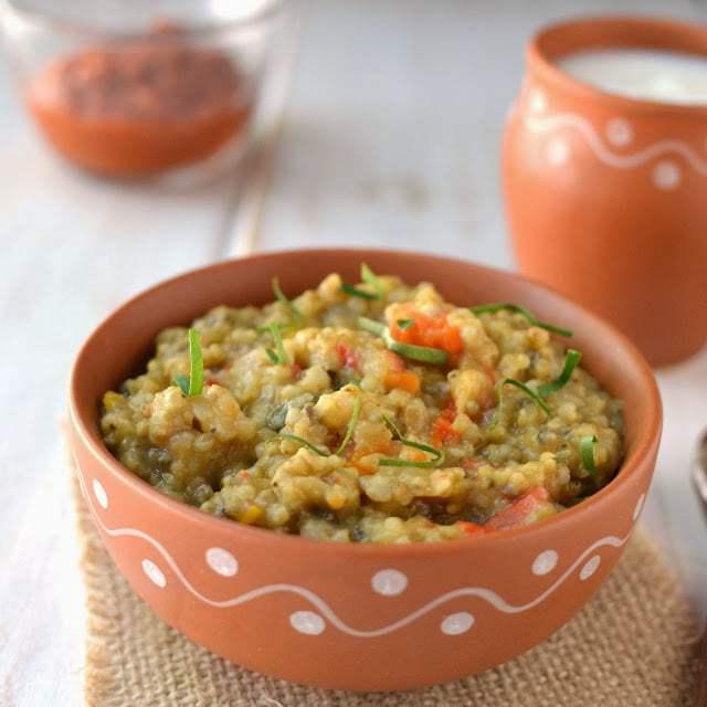 Bajre Ki Khichdi (Pearl Millet/ Sajjala Khichdi) Recipe | HeyFood — heyfoodapp.com