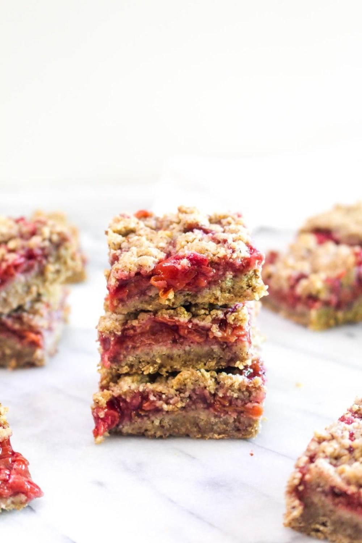 Cherry Pie Crumble Bars Recipe | HeyFood — heyfoodapp.com