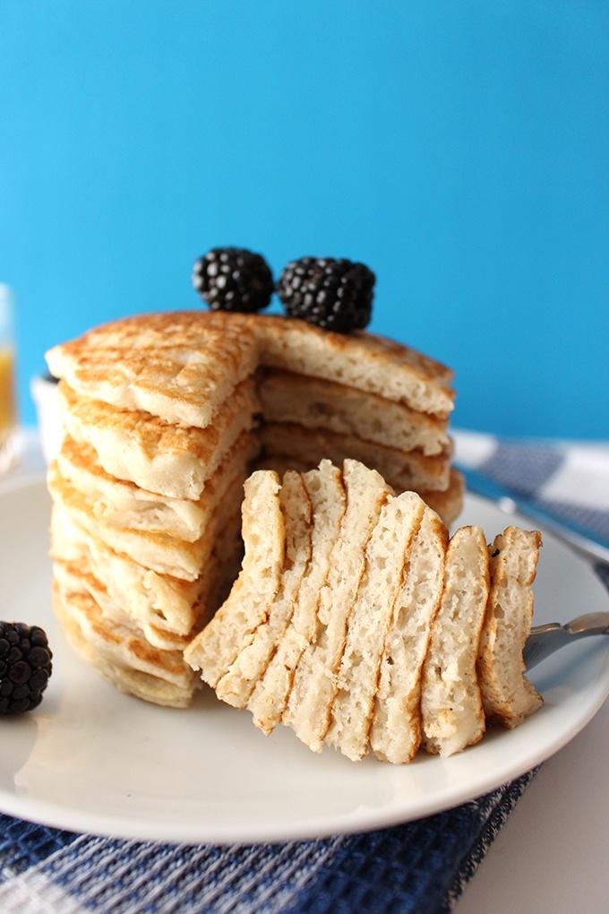 Best Ever Fluffy Vegan Pancakes Recipe | HeyFood — heyfoodapp.com