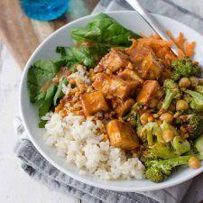 Peanut Tofu Buddha Bowl Recipe | HeyFood — heyfoodapp.com