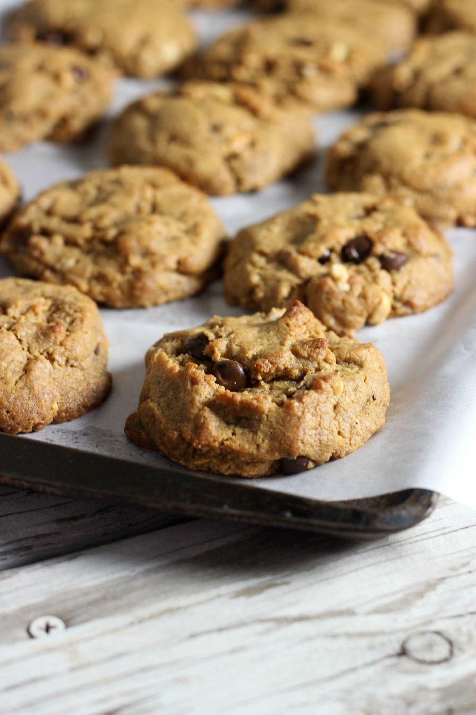 Peanut Butter Yogurt Cookies with Dark Chocolate Recipe   HeyFood — heyfoodapp.com