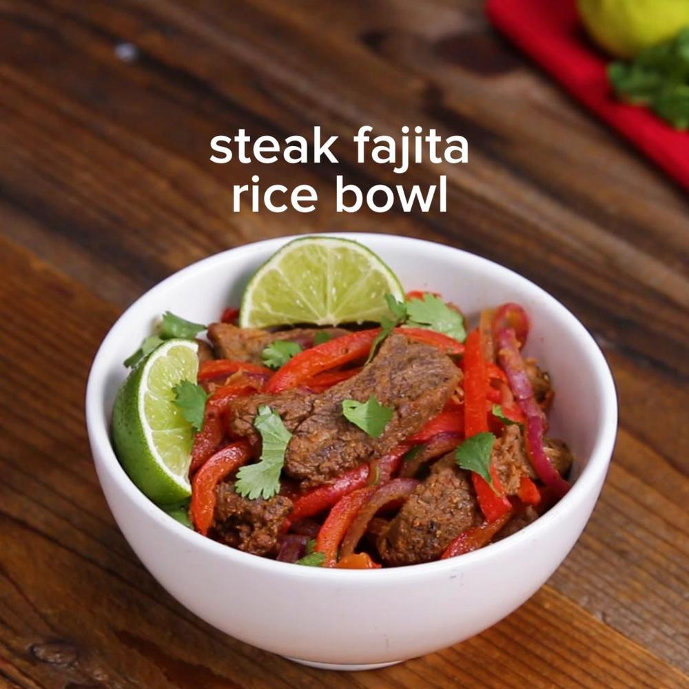 Sheet Tray Fajitas Rice Bowl Recipe By Tasty Recipe | HeyFood — heyfoodapp.com