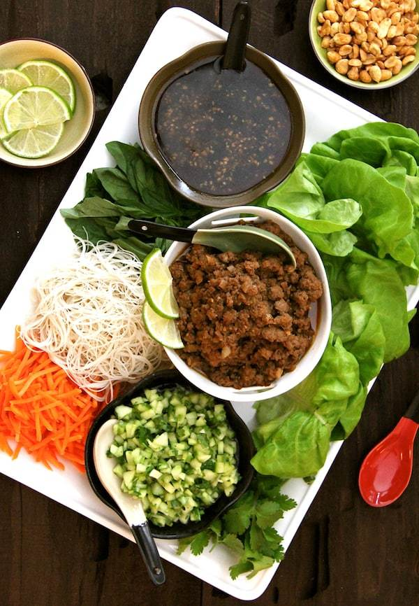 Vietnamese Beef Lettuce Wraps with Rice Noodles and Cucumber Relish Recipe | HeyFood — heyfoodapp.com