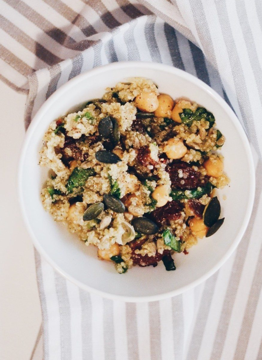 Spinach and chickpeas quinoa Recipe | HeyFood — heyfoodapp.com