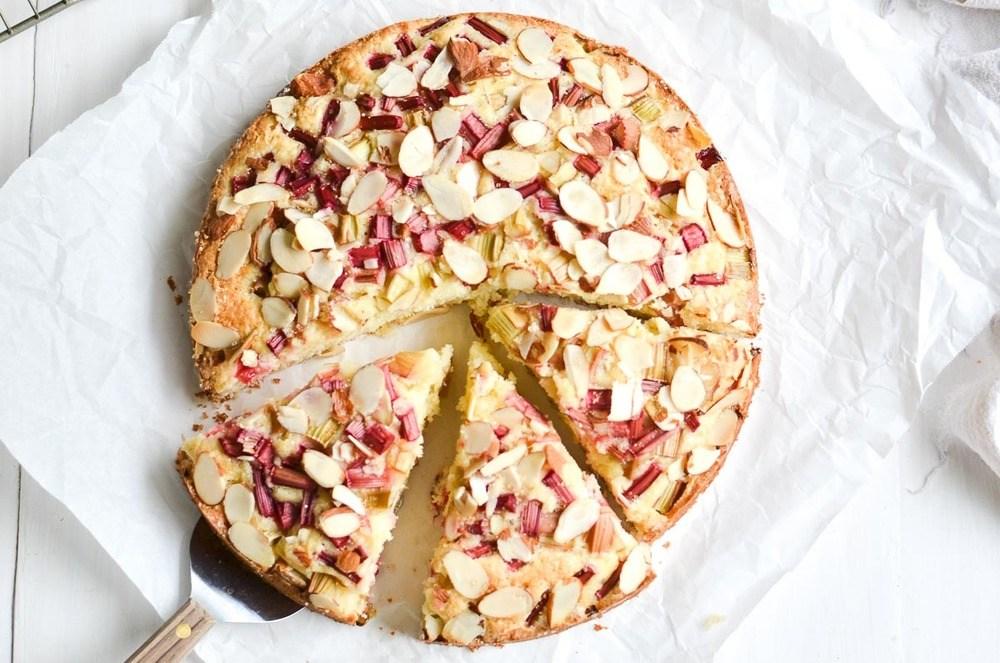 Norwegian Rhubarb and Almond Cake Recipe | HeyFood — heyfoodapp.com
