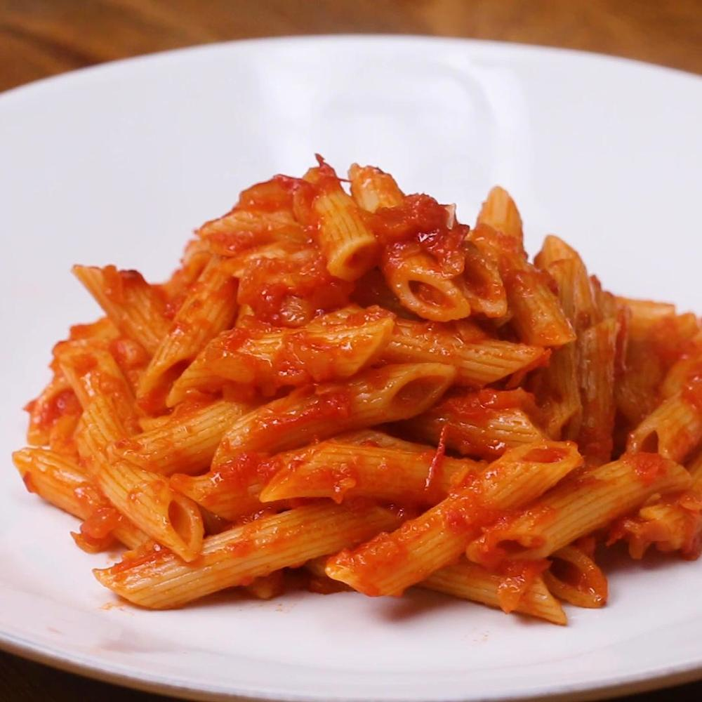 Penne With Tomato Sauce Pasta Recipe By Tasty Recipe | HeyFood — heyfoodapp.com