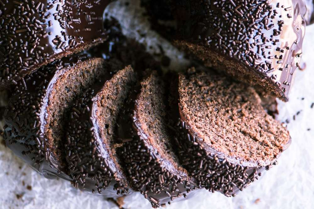 Chocolate Sour Cream Doughnut Bundt Cake Recipe | HeyFood — heyfoodapp.com