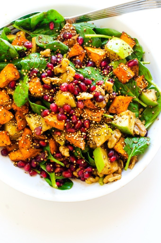Sweet Potato Pomegranate Salad Recipe | HeyFood — heyfoodapp.com