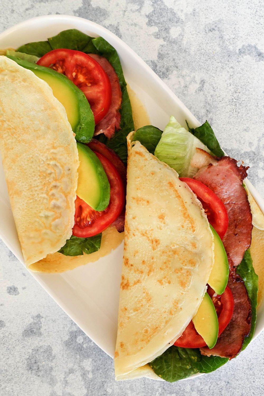 Quick & Easy Crepe with Bacon Lettuce Avocado & Tomato Recipe | HeyFood — heyfoodapp.com