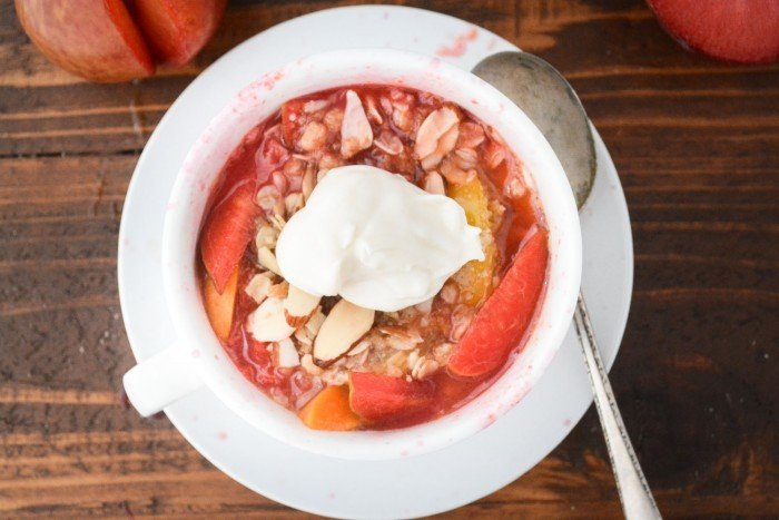 5 Minute Stone Fruit Breakfast Crisp Recipe | HeyFood — heyfoodapp.com