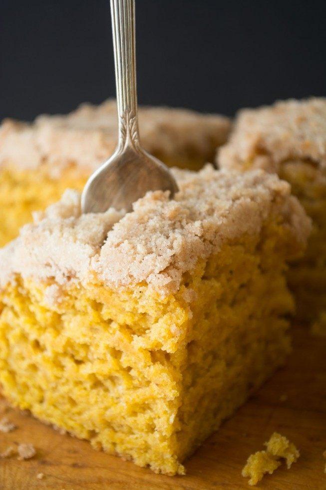Pumpkin Crumb Cake Recipe | HeyFood — heyfoodapp.com