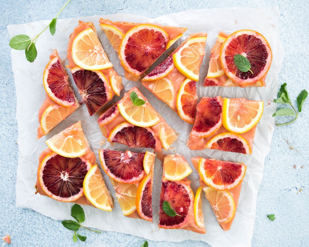 Blood Orange Lemon Bars Recipe | HeyFood — heyfoodapp.com