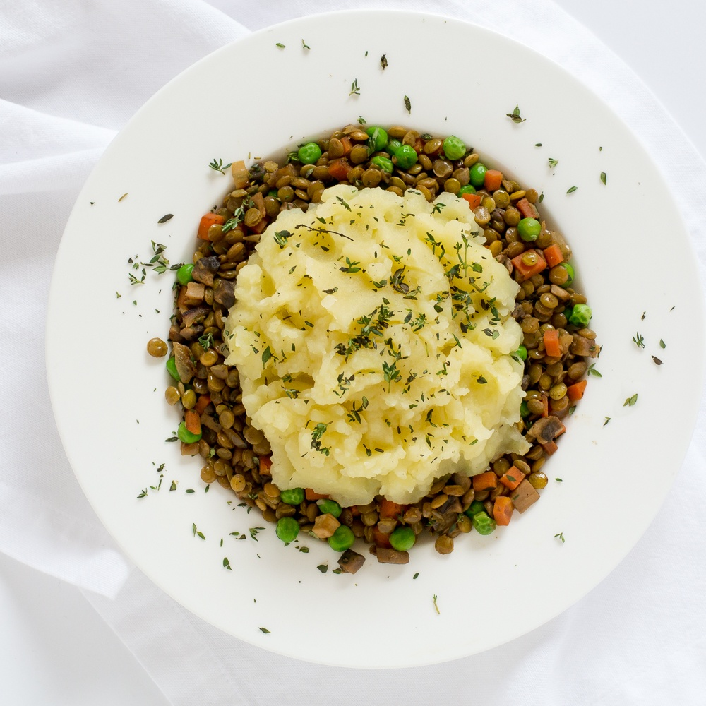 Vegetarian Shepherd's Pie With Lentils, Mushrooms & Carrots Recipe | HeyFood — heyfoodapp.com