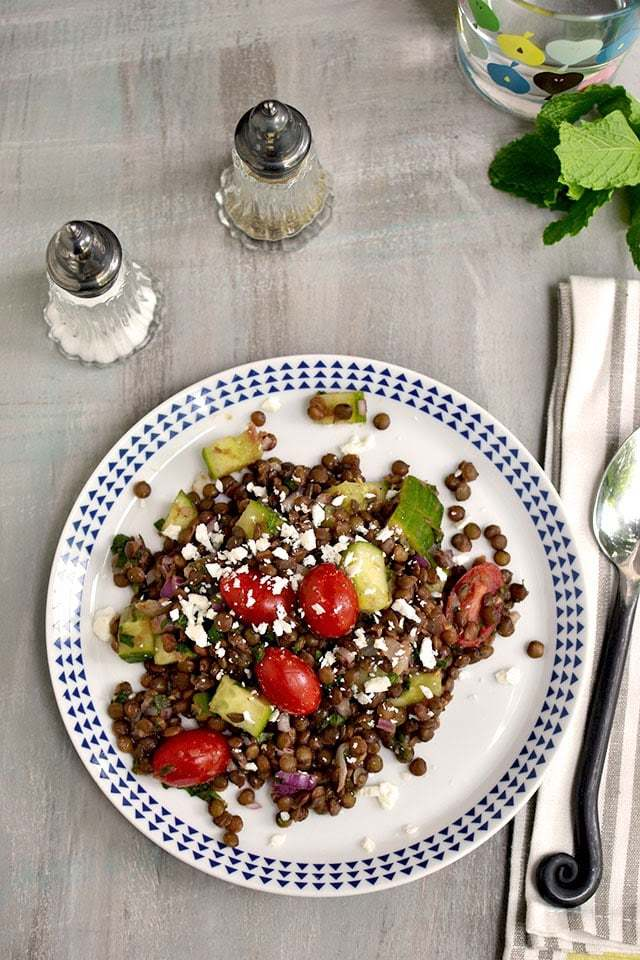 Greek Lentil Salad Recipe | HeyFood — heyfoodapp.com
