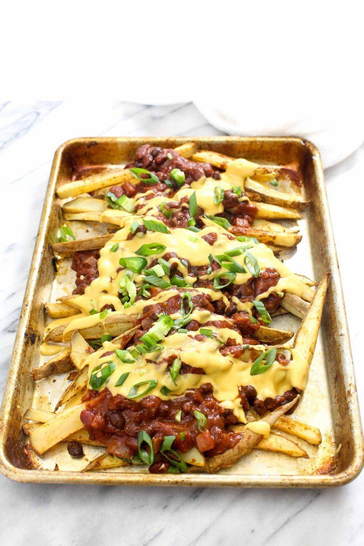 Healthy Vegan Chili Cheese Fries Recipe   HeyFood — heyfoodapp.com