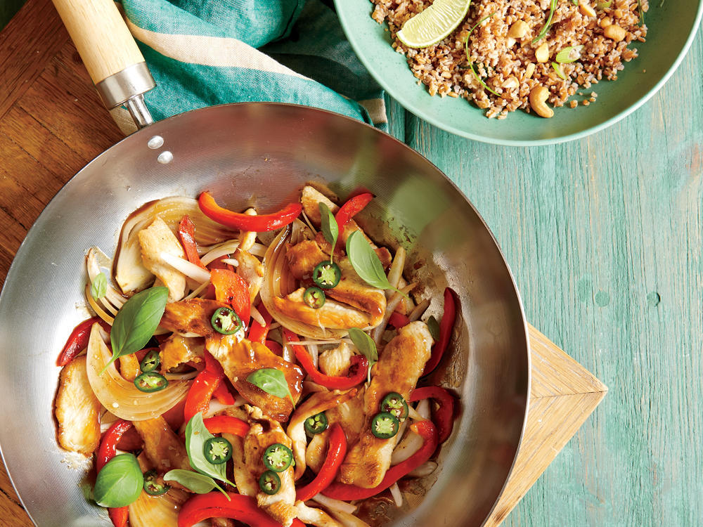 Thai Basil Chicken Stir-Fry Recipe | HeyFood — heyfoodapp.com