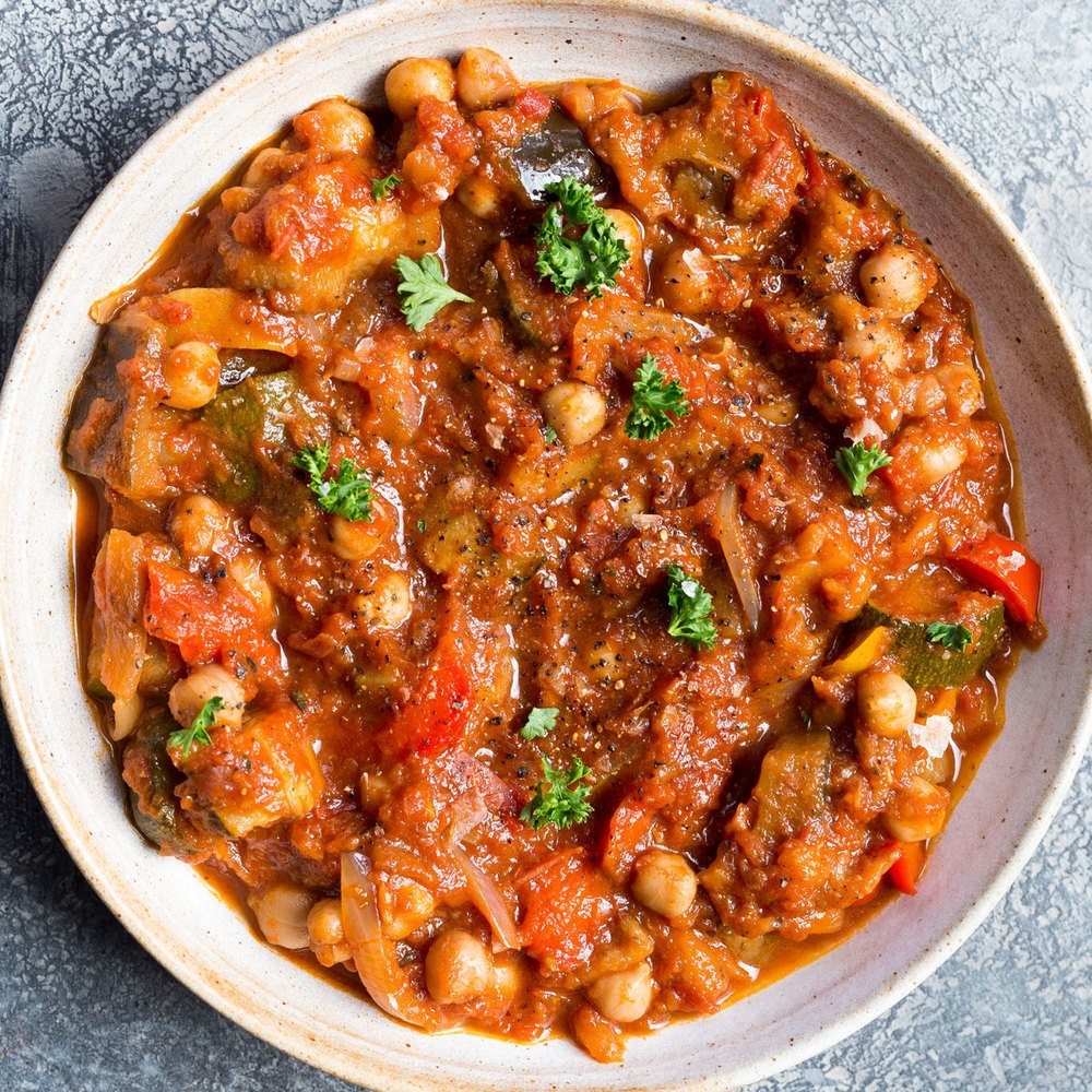 Roast Veg & Chickpea Stew Recipe | HeyFood — heyfoodapp.com